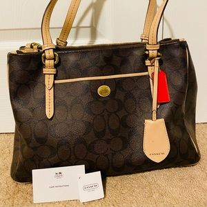 Coach Purse/Handbag Brown & Black